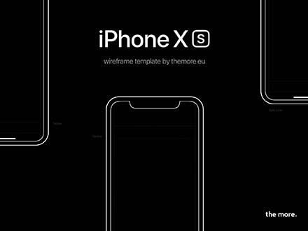 iPhone XS Wireframe Template