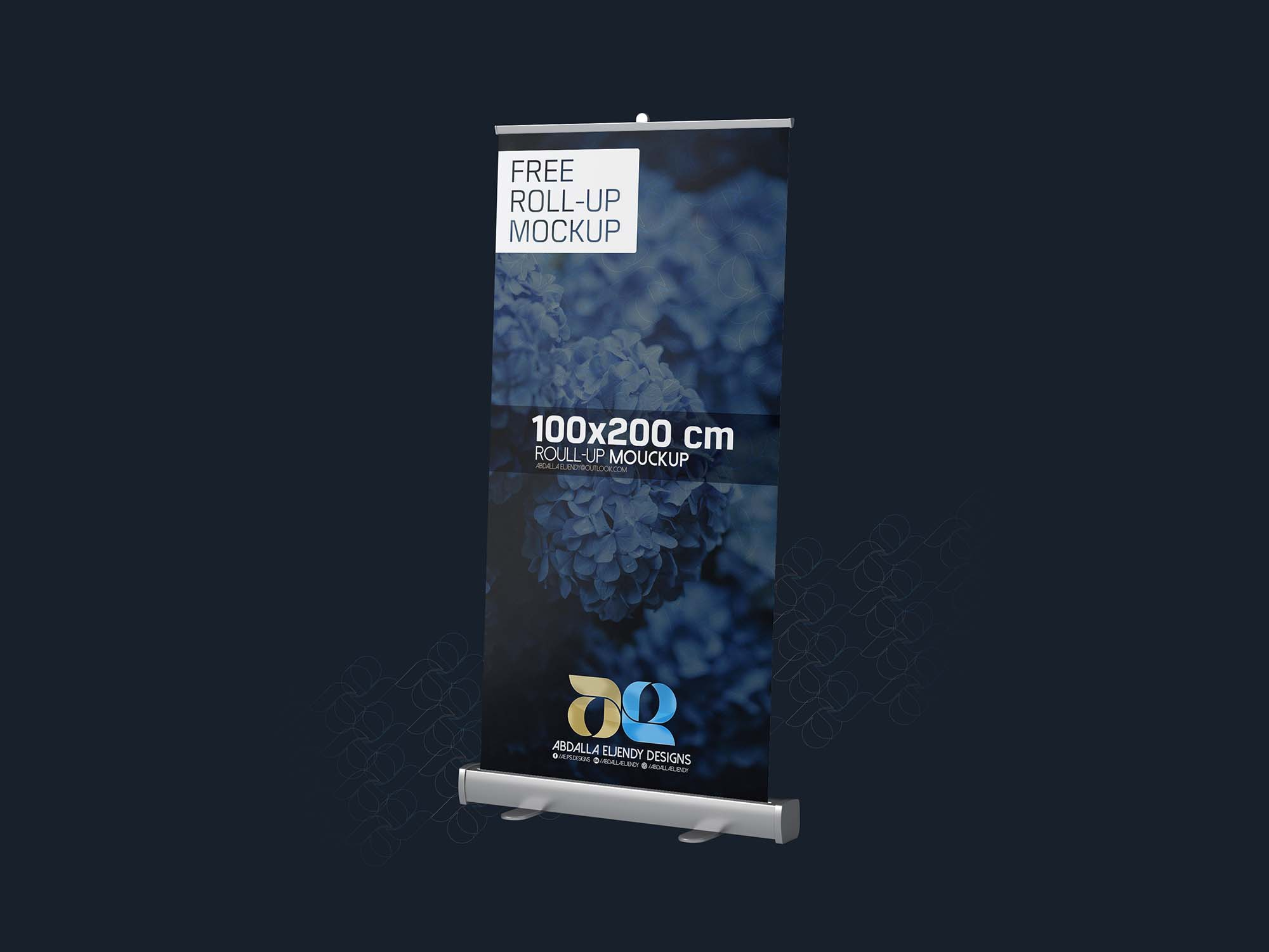 100×200 CM Rollup Mockup Perspective