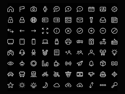 100 Line Vector Icons