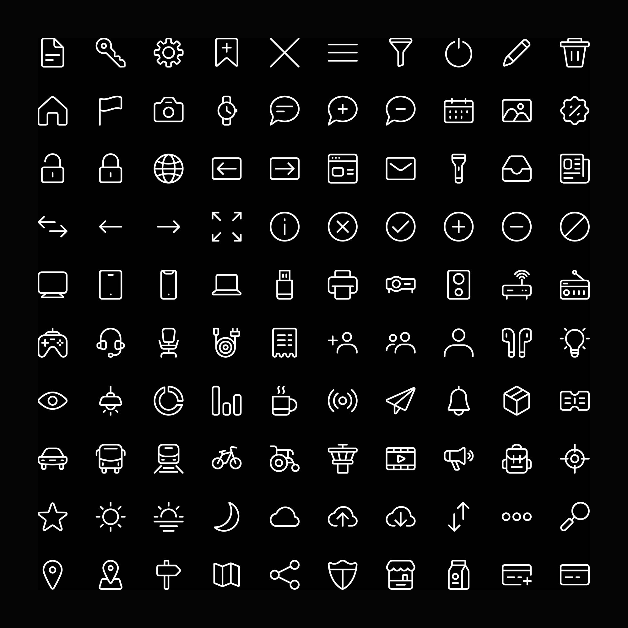 100 Line Vector Icons 2
