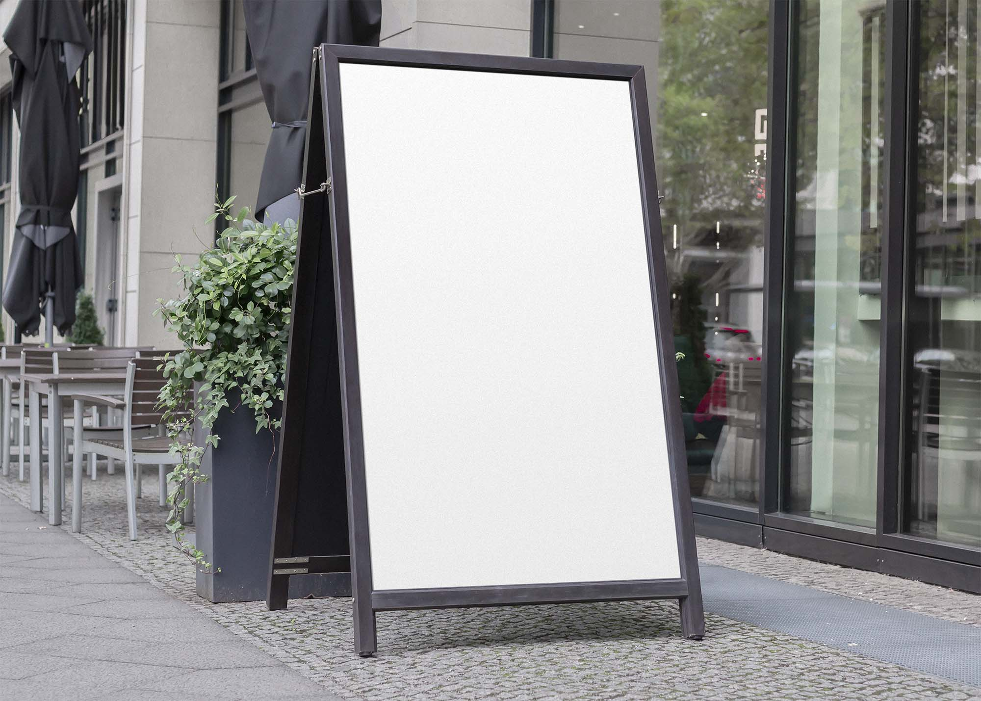 A Shape Sign Board Mockup