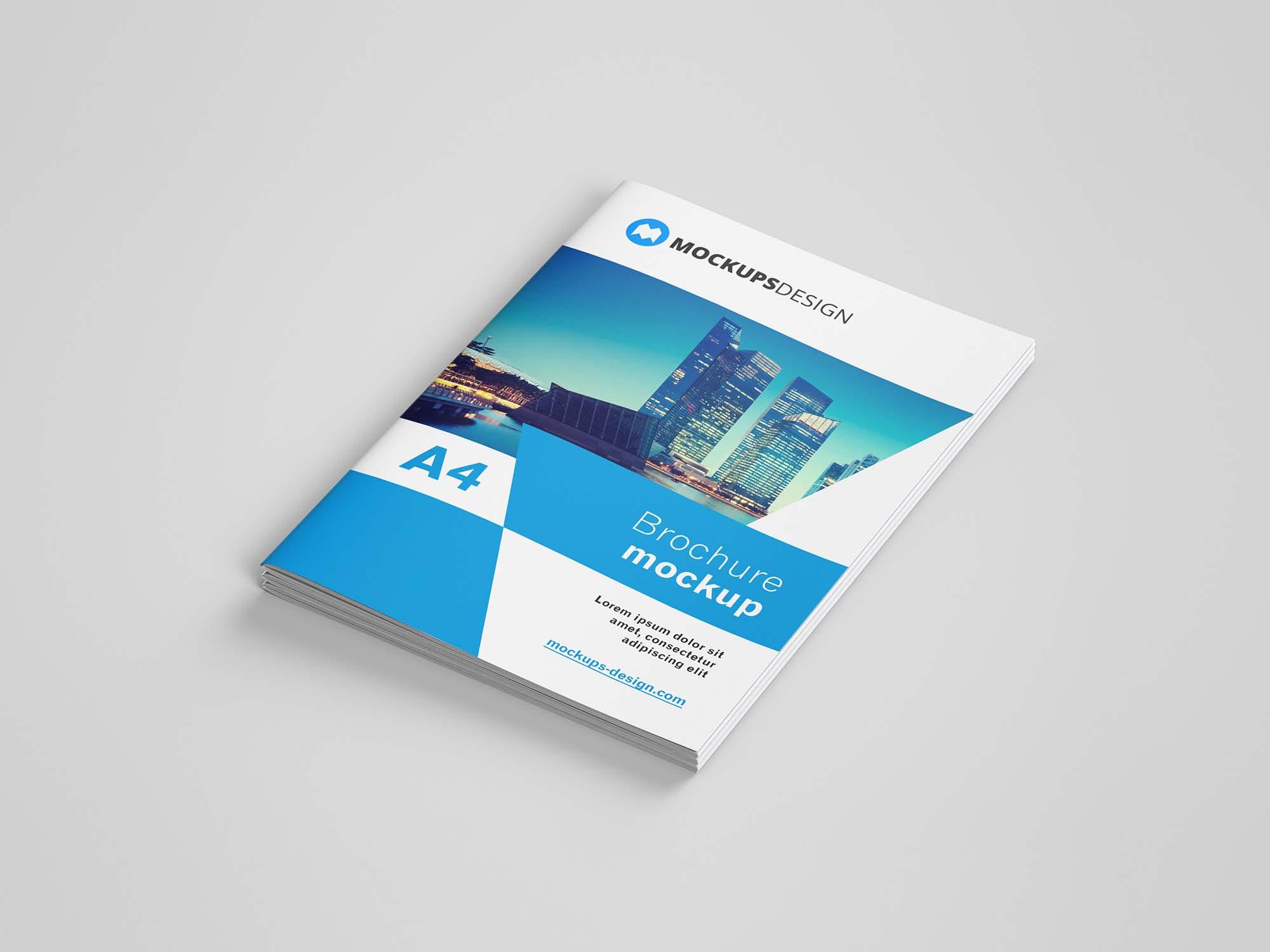 A4 Brochure Mockup Cover