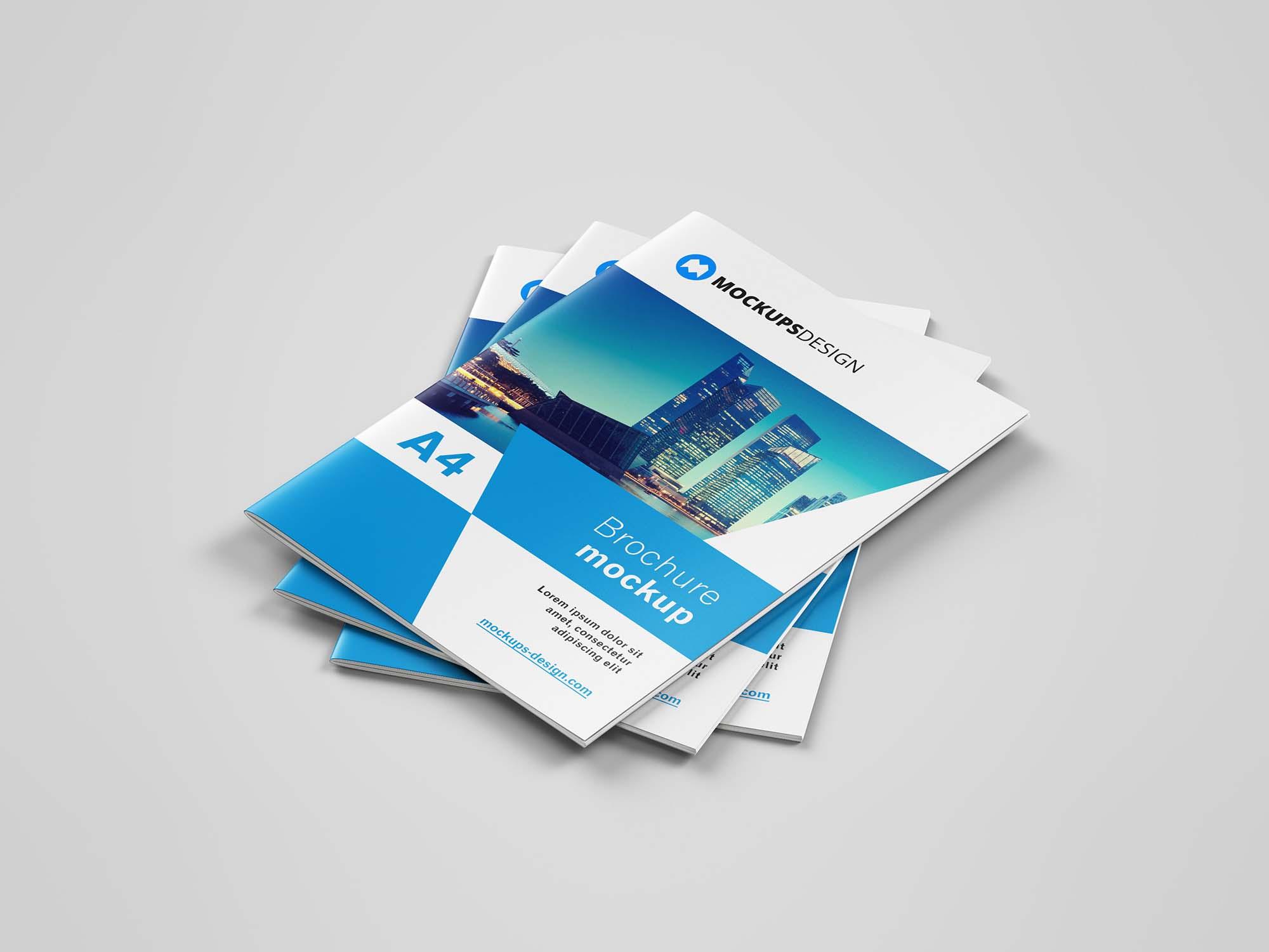 A4 Brochure Mockup Cover 2