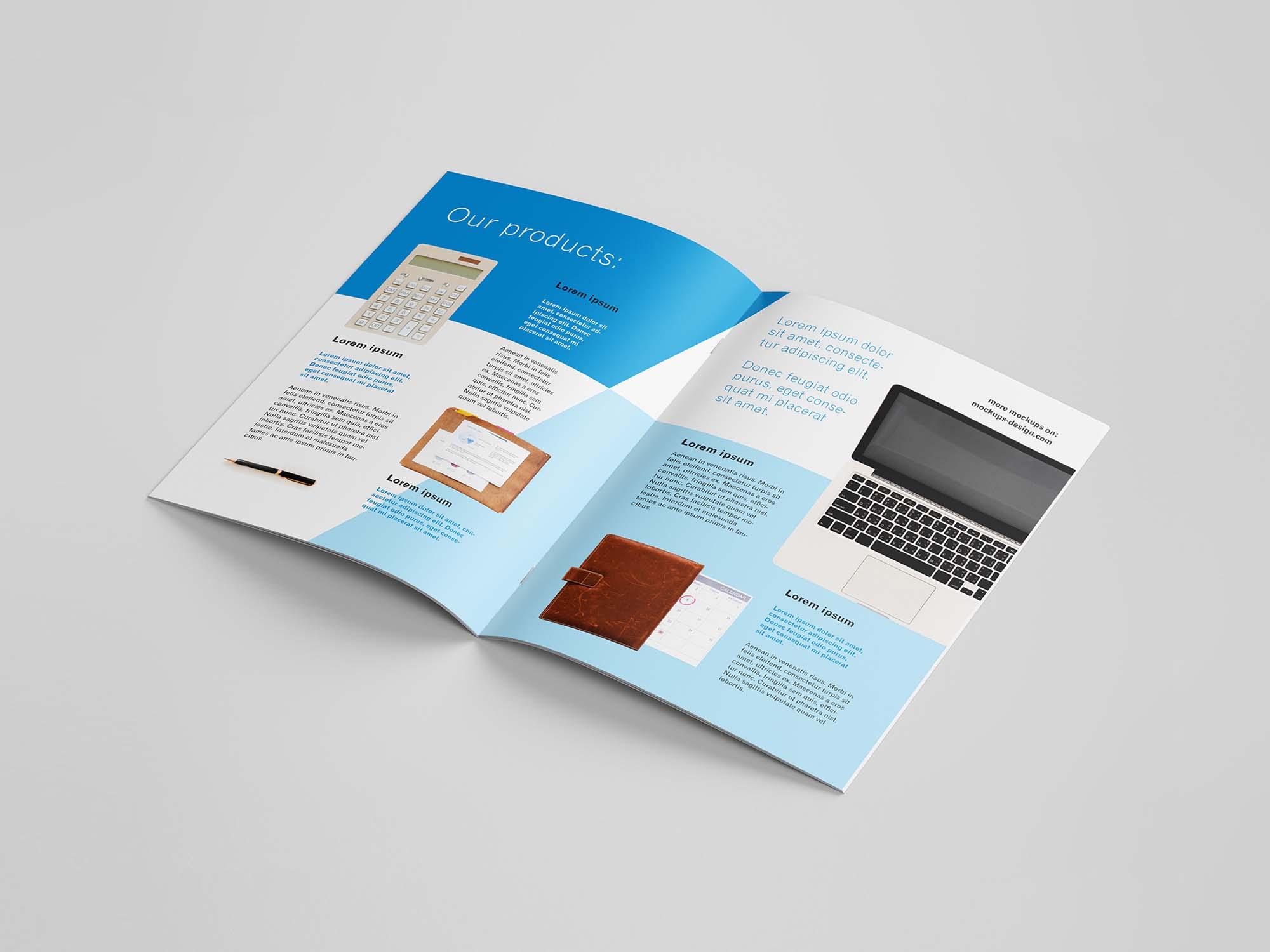 A4 Brochure Mockup Inside 3