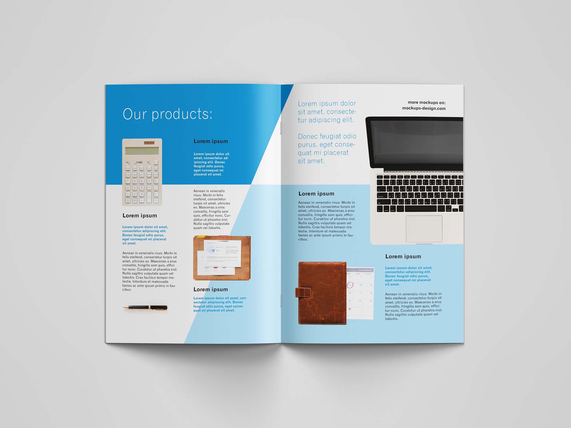 A4 Brochure Mockup Inside 4