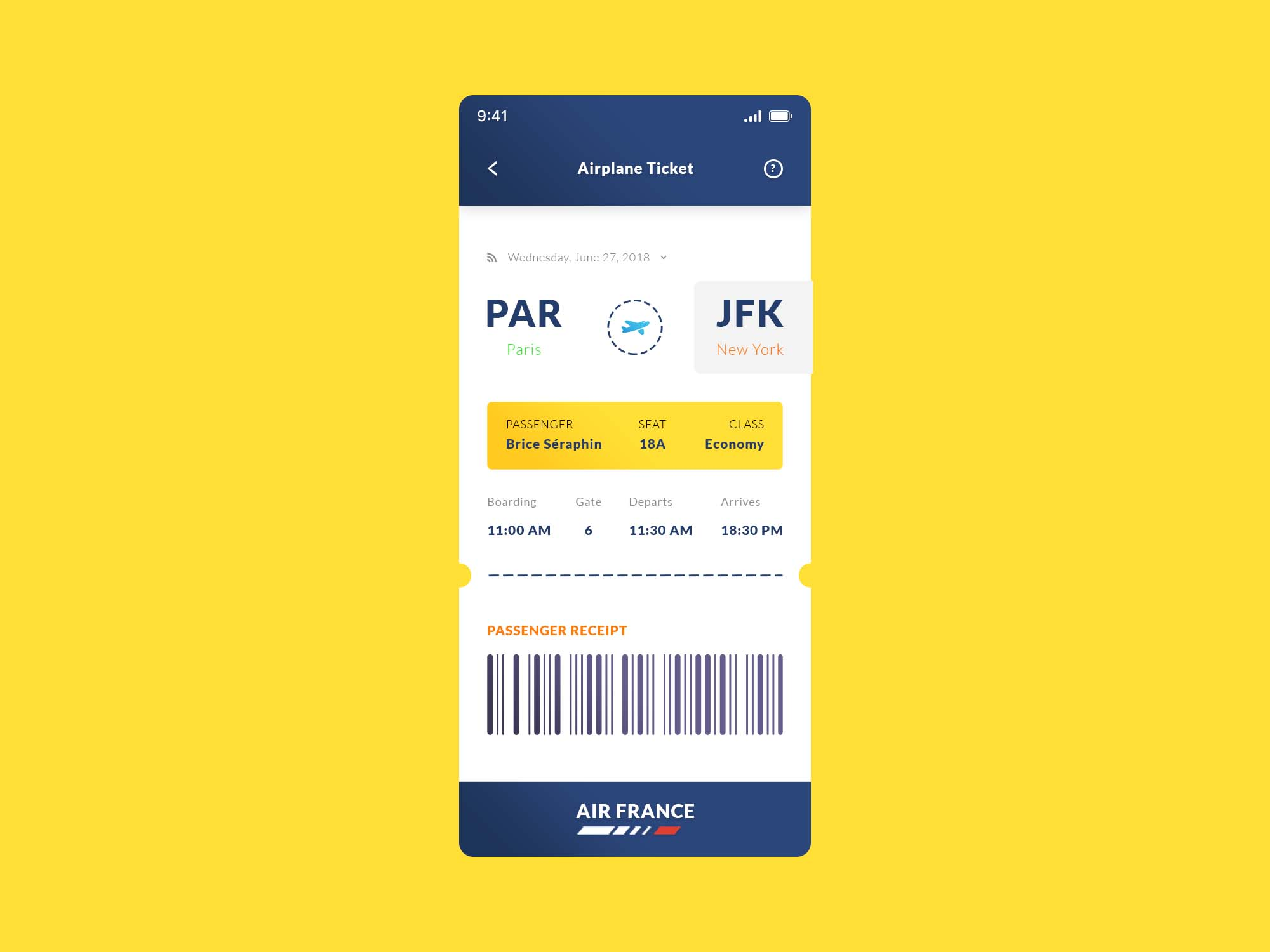Airplane Ticket App Template 2