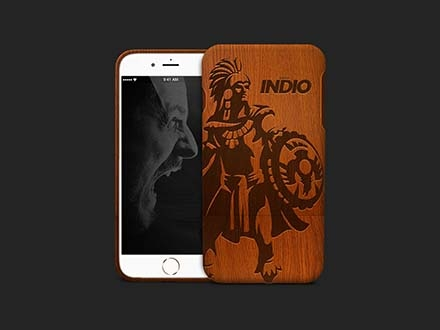 Bamboo Wood iPhone Case Mockup