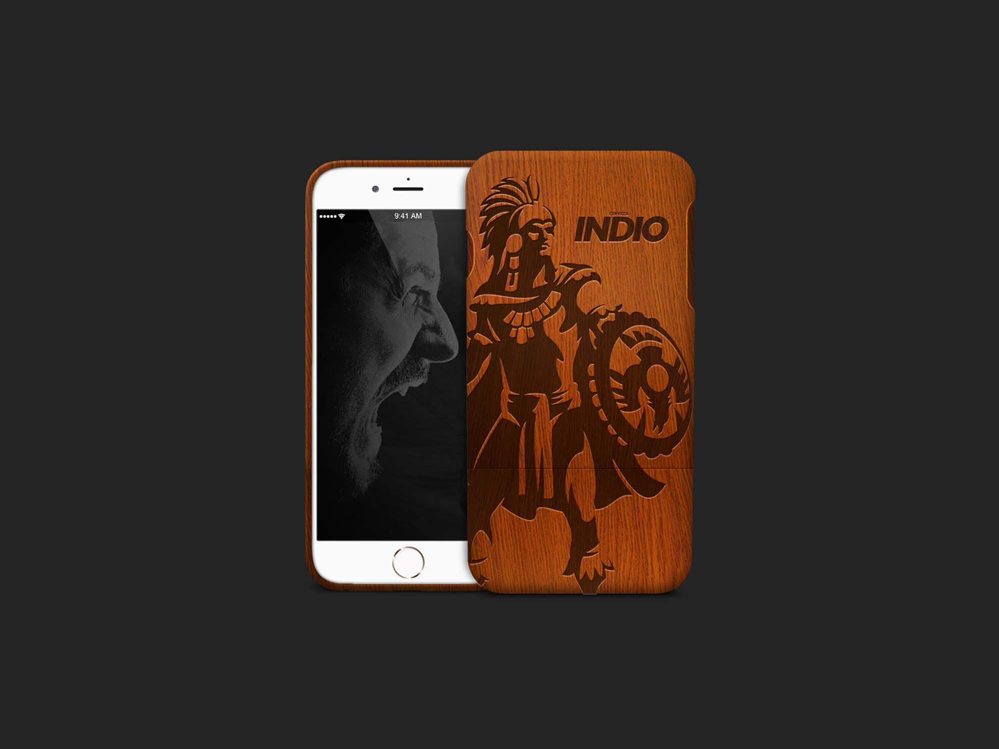 Bamboo Wood iPhone Case Mockup