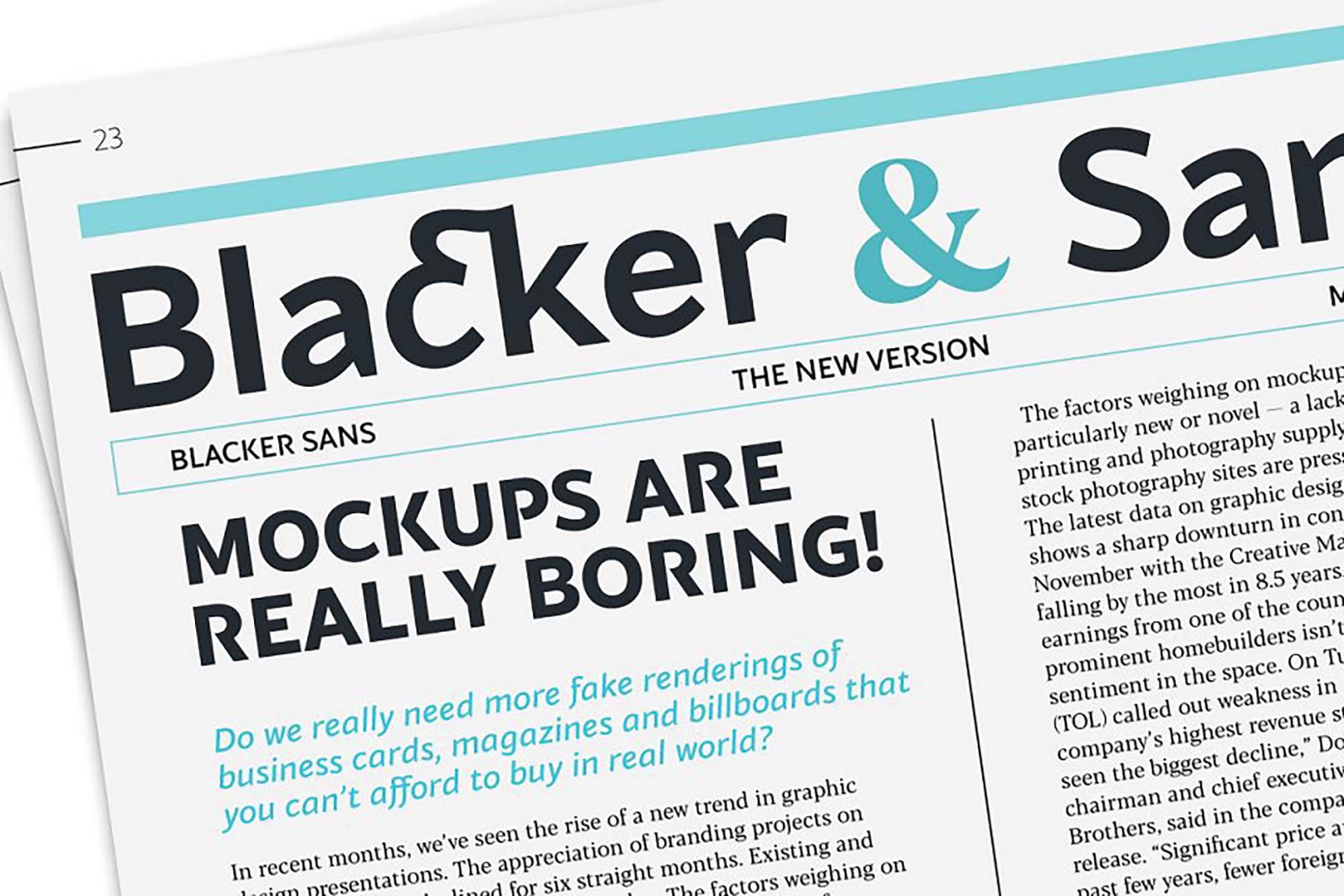 Blacker Sans Font Family 4