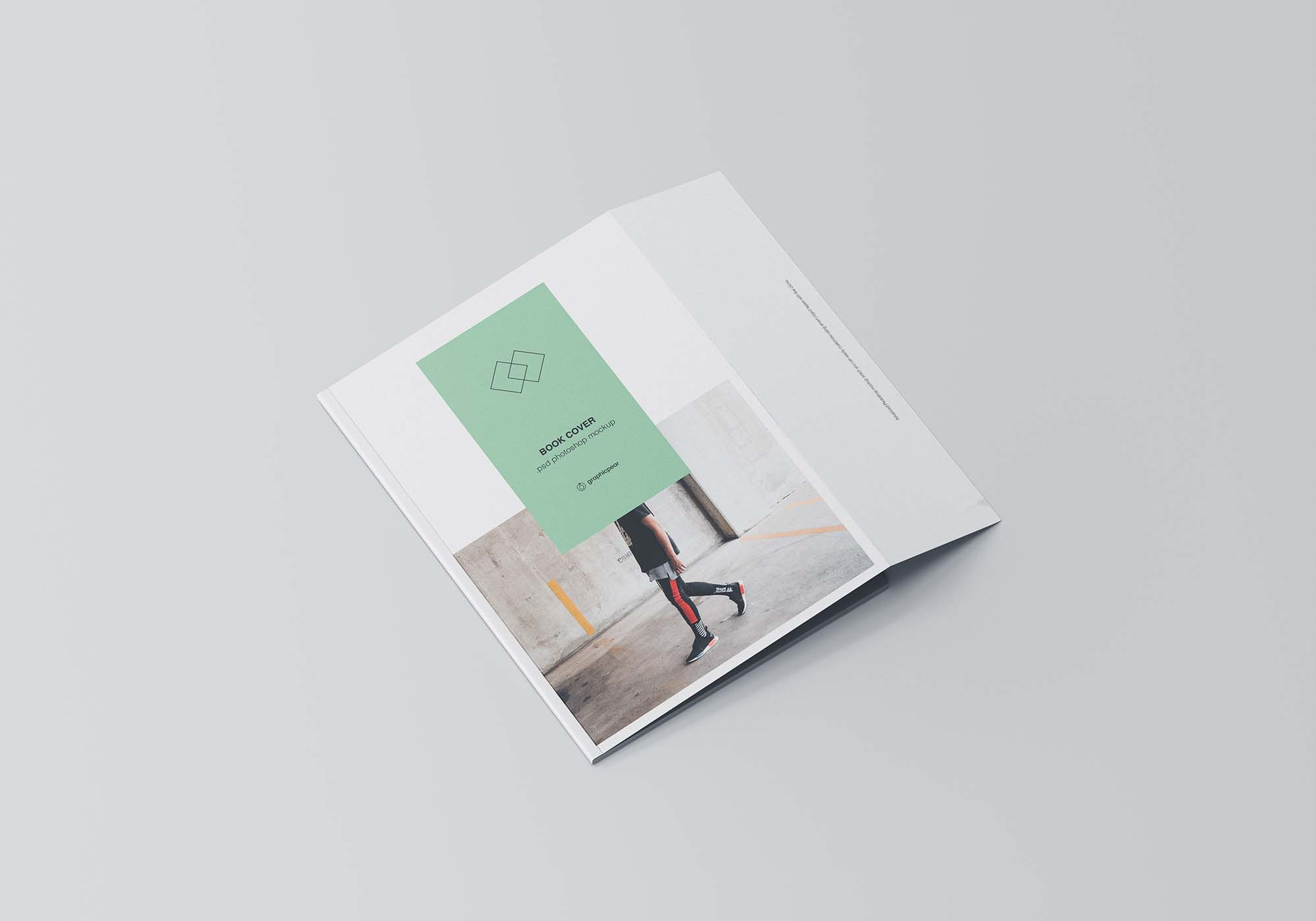 Book Cover with Inner Fold Mockup