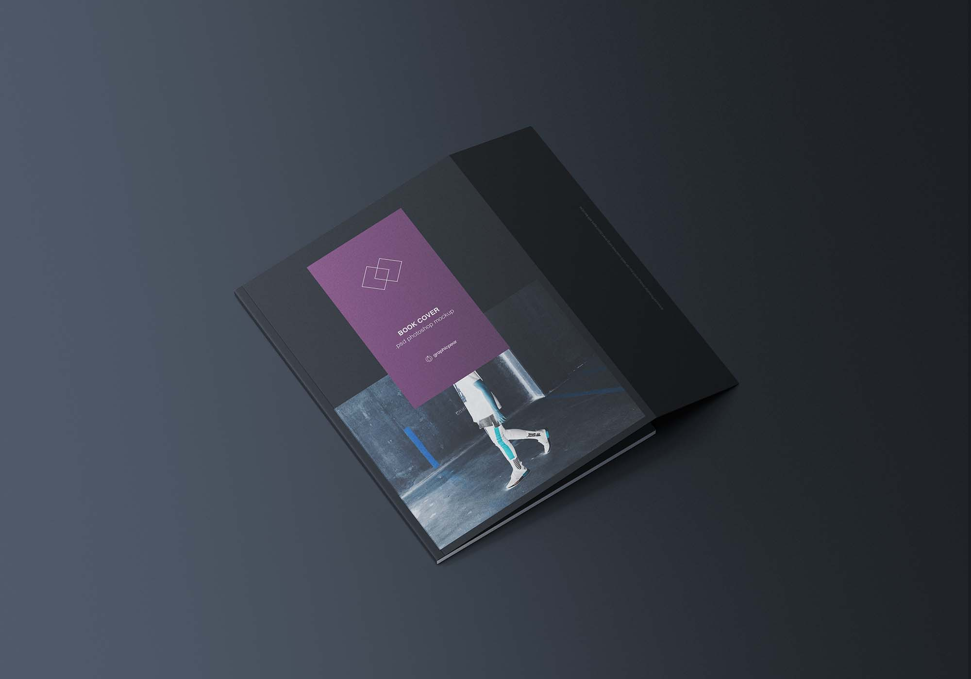 Book Cover with Inner Fold Mockup 2