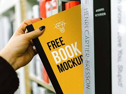 Book on Shelf Mockup