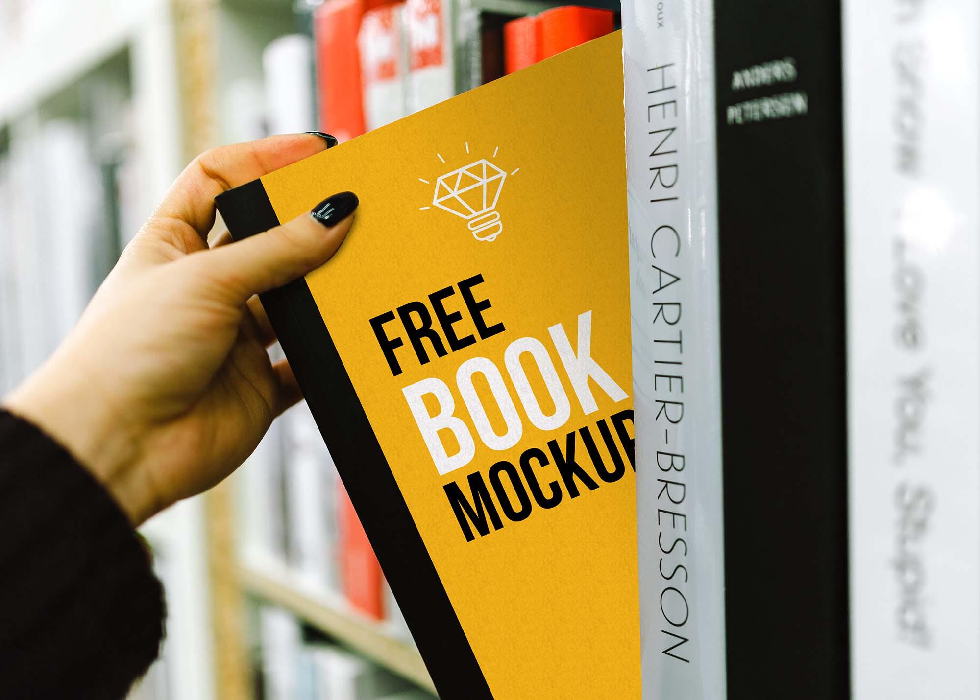 Book on Shelf Mockup