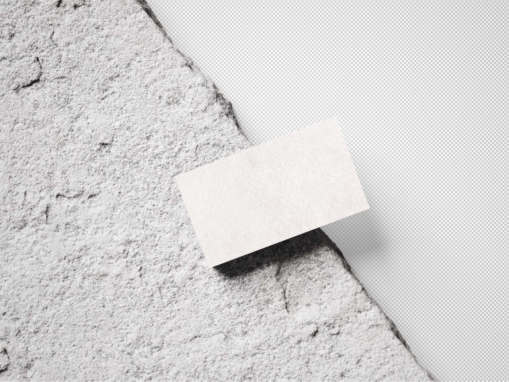 Business Card on Natural Rock Mockup 3