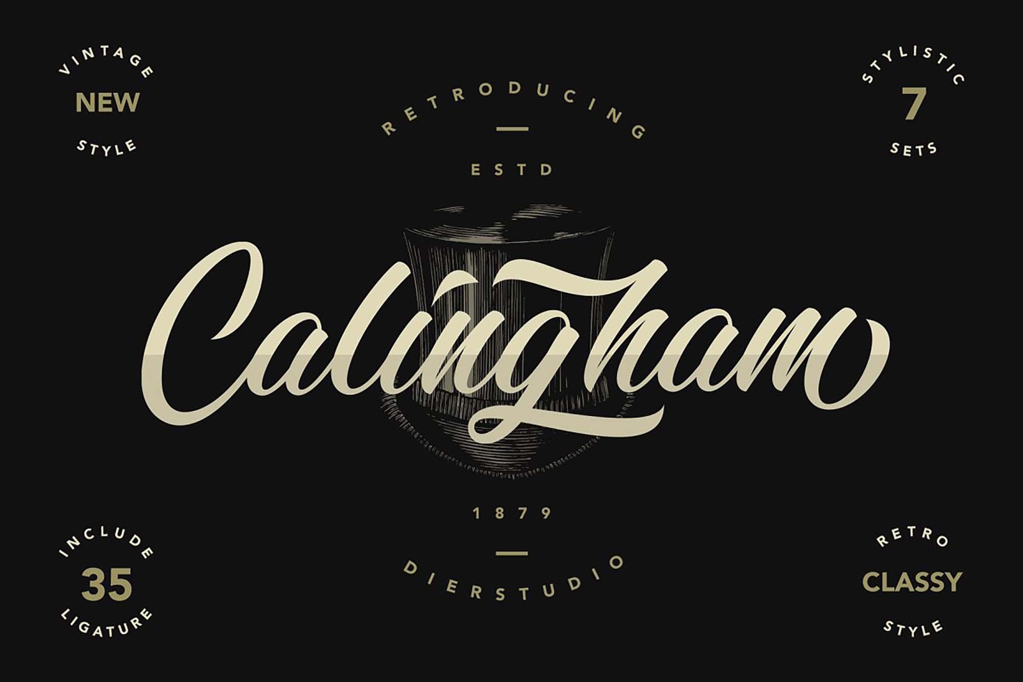 Calingham Script Font
