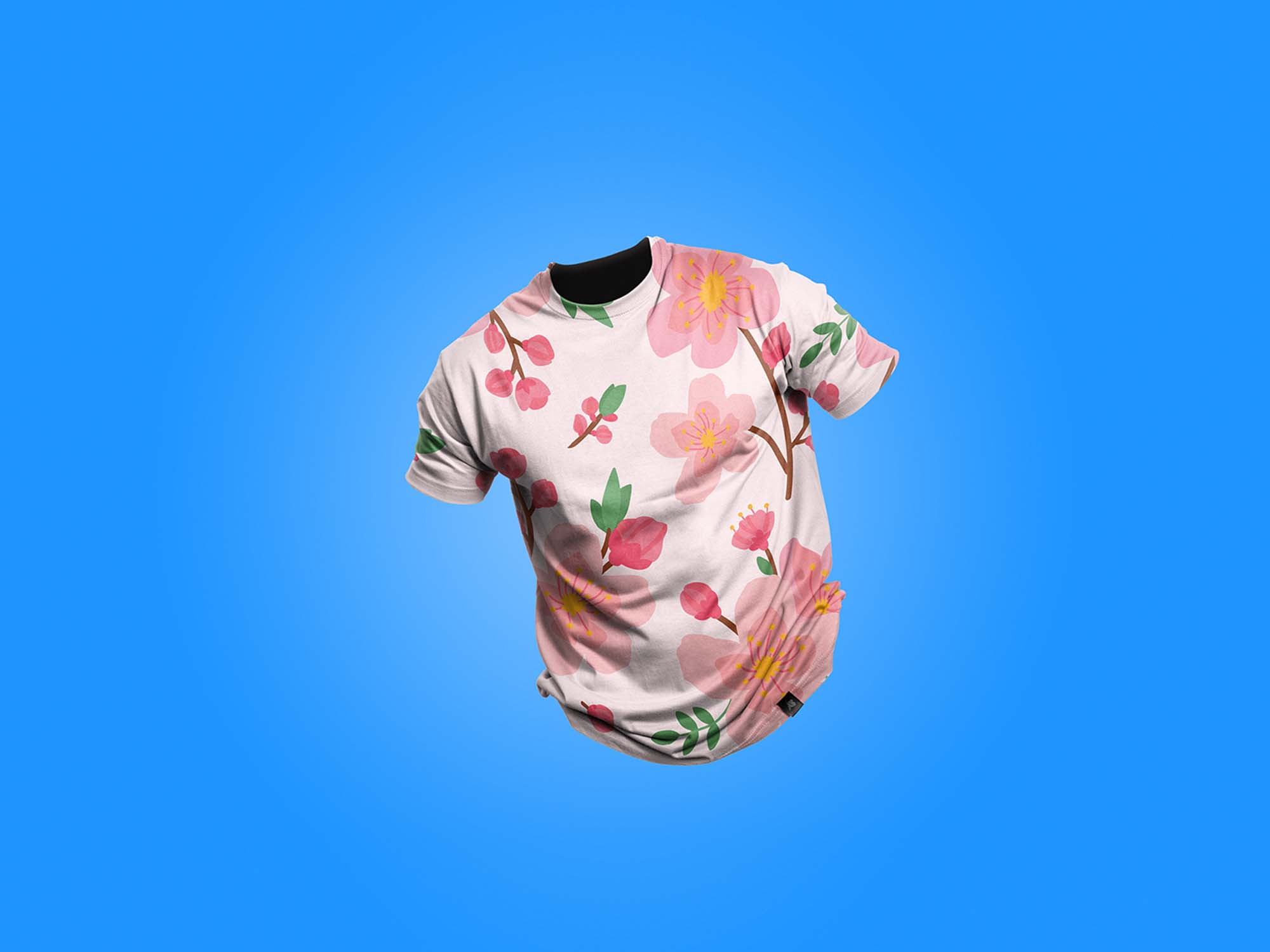 Clean Floating T-Shirt Mockup