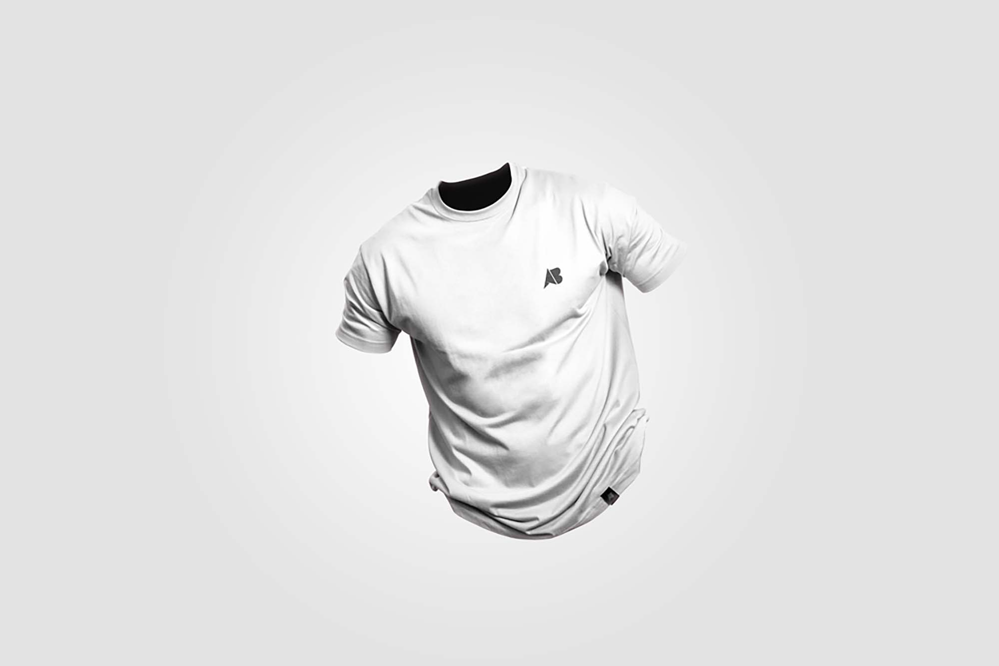 Clean Floating T-Shirt Mockup PSD