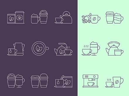 Coffee and Tea Icons