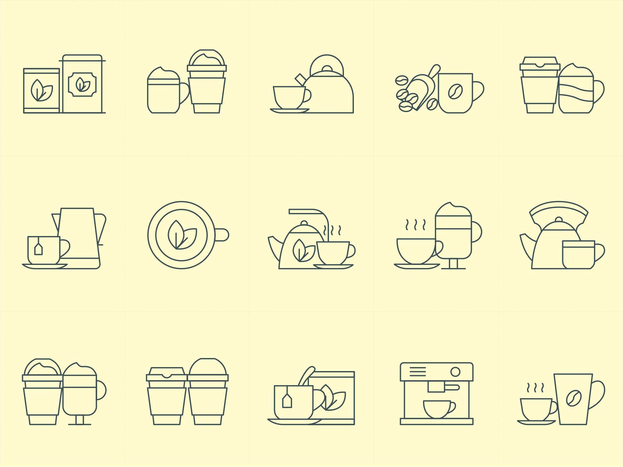 Coffee and Tea Icons 1