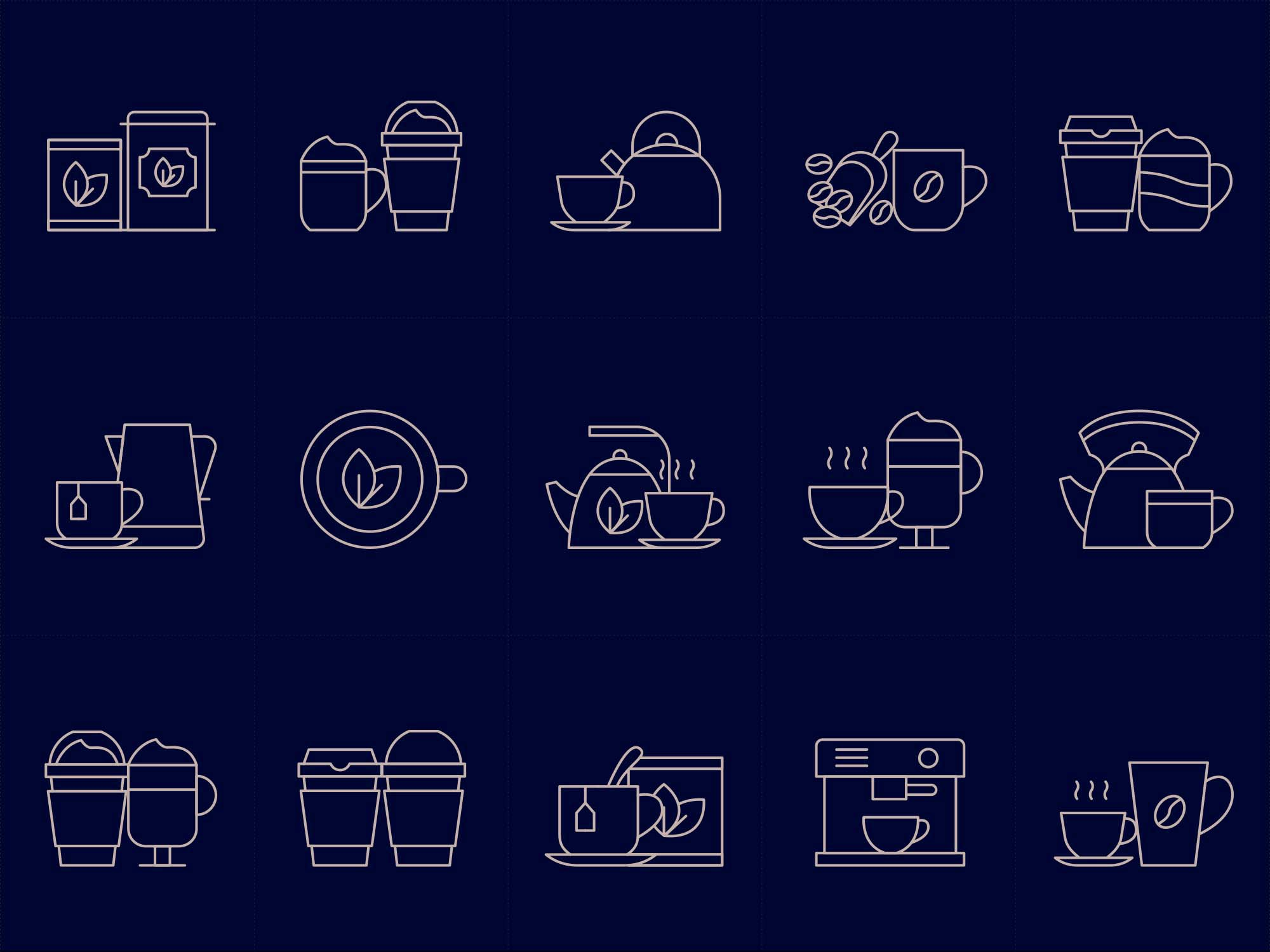 Coffee and Tea Icons 2