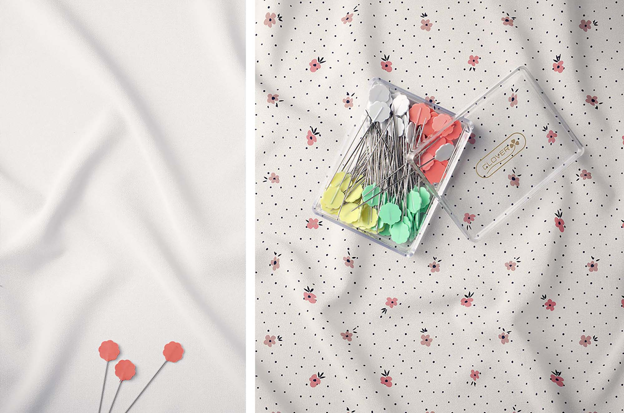 Creased Fabric Mockup 3