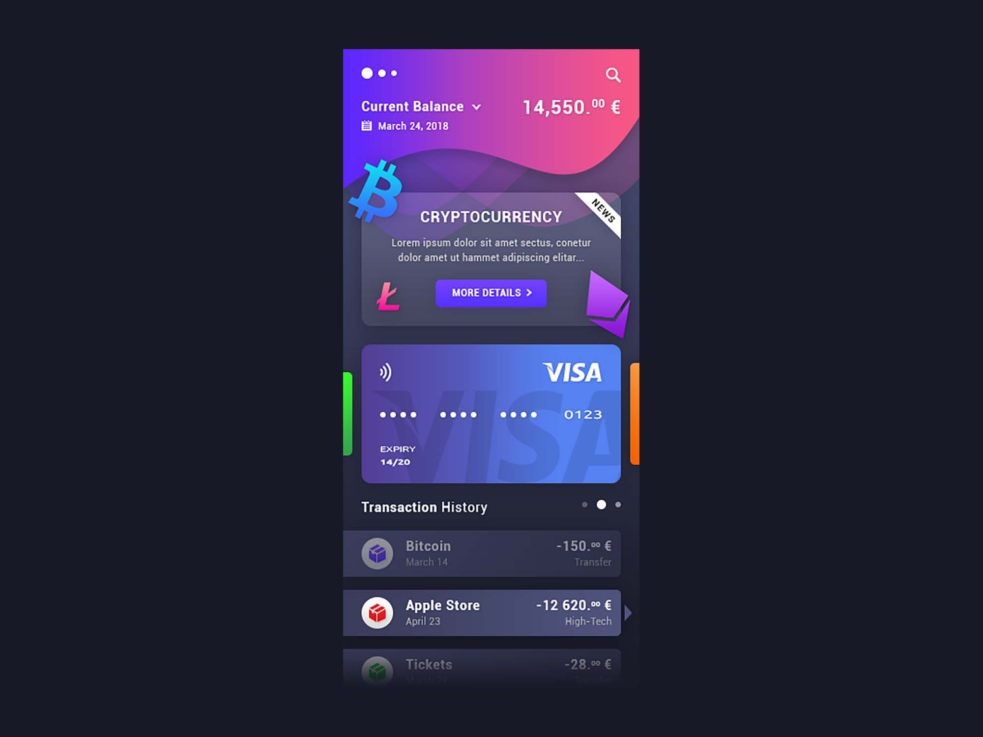 Cryptocurrency App Template 2