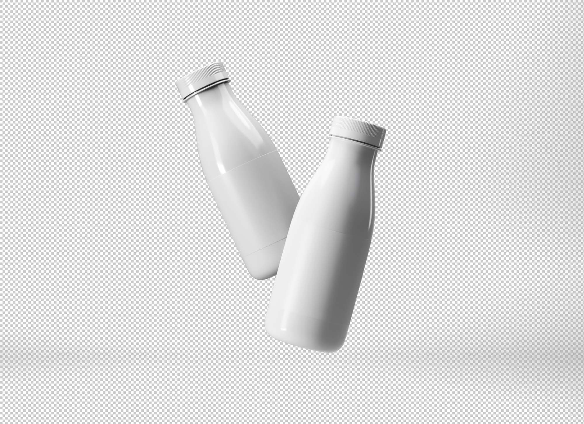 Floating Plastic Bottles Mockup 2