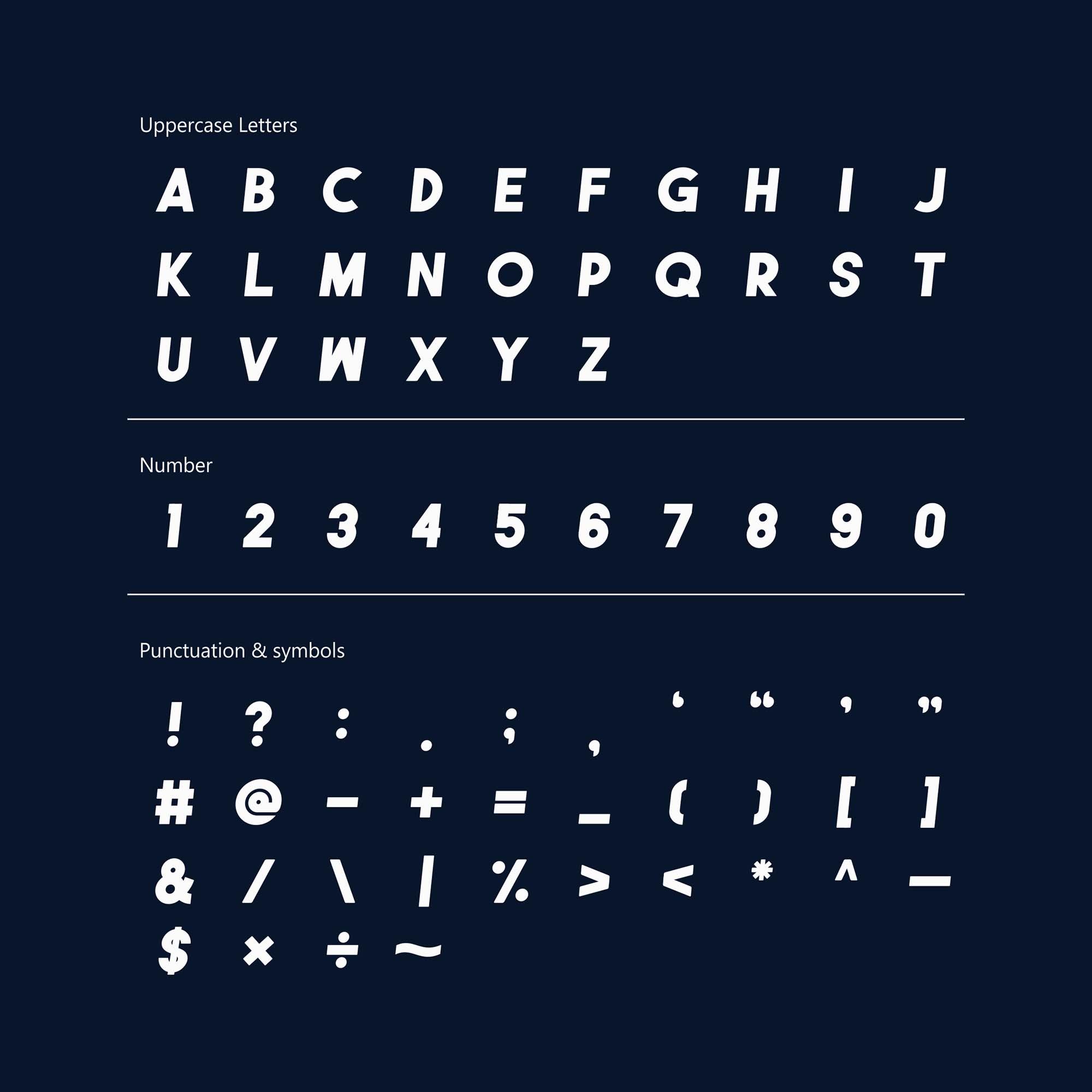 Genuine Sans Font Letters
