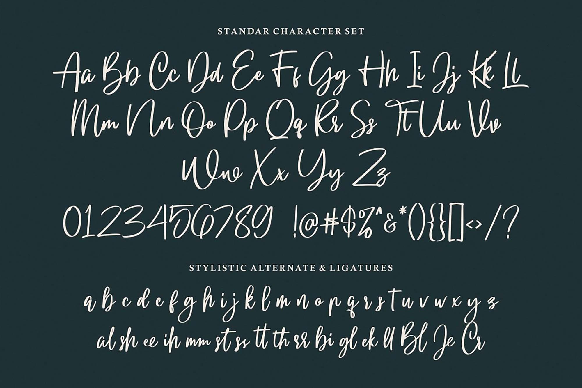 Gloryouss Font Letters