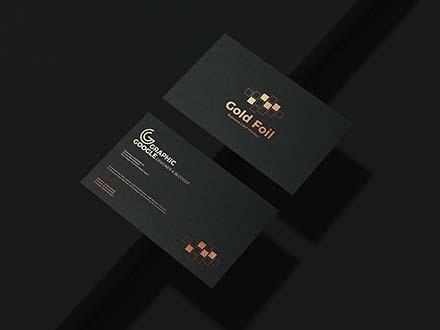 Gold Foil Business Card Mockup