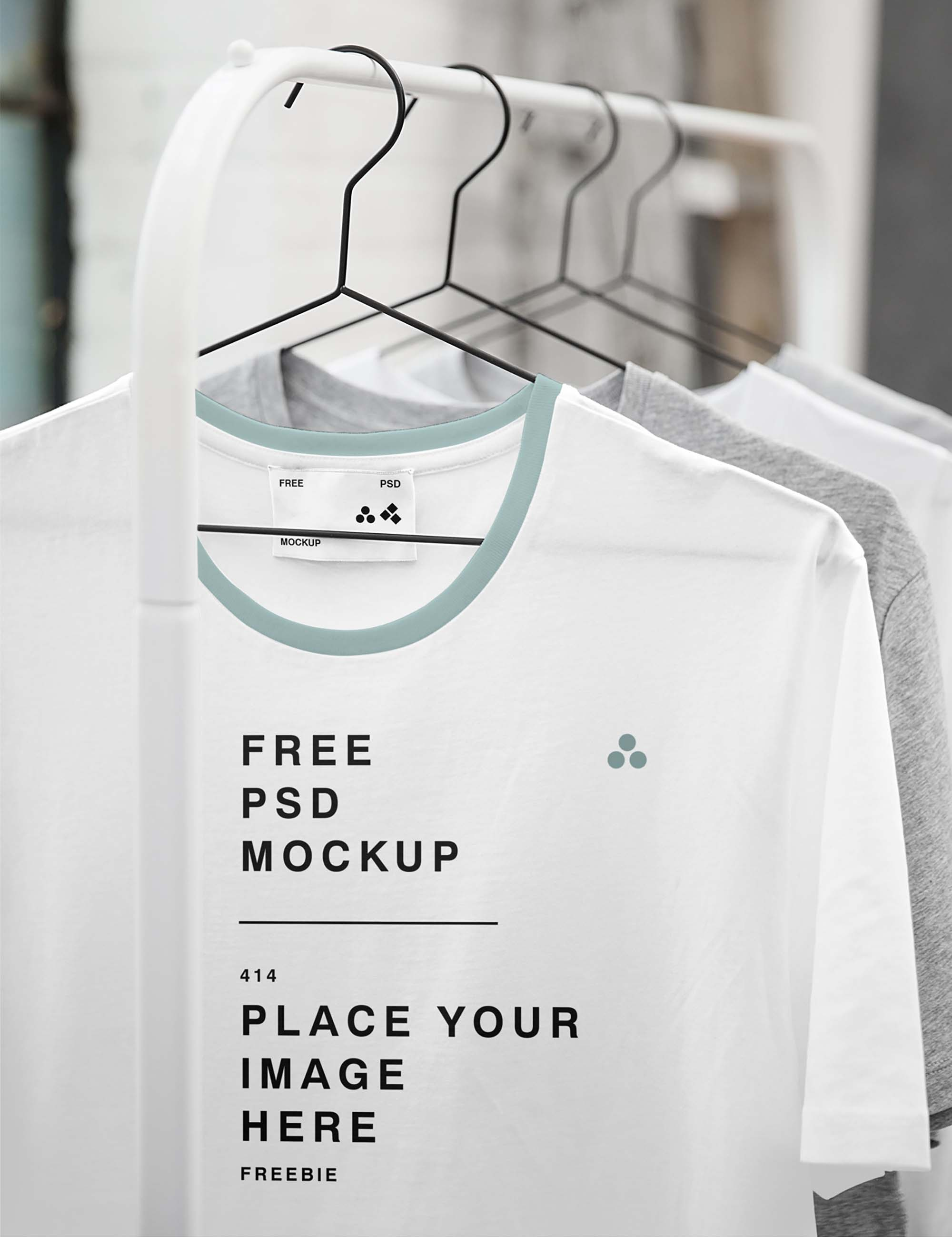 Hanged T-Shirt Mockup