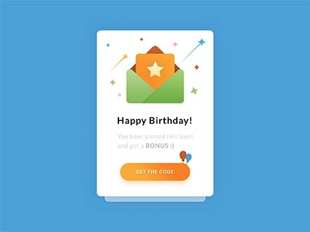 Happy Birthday UI-UX Template