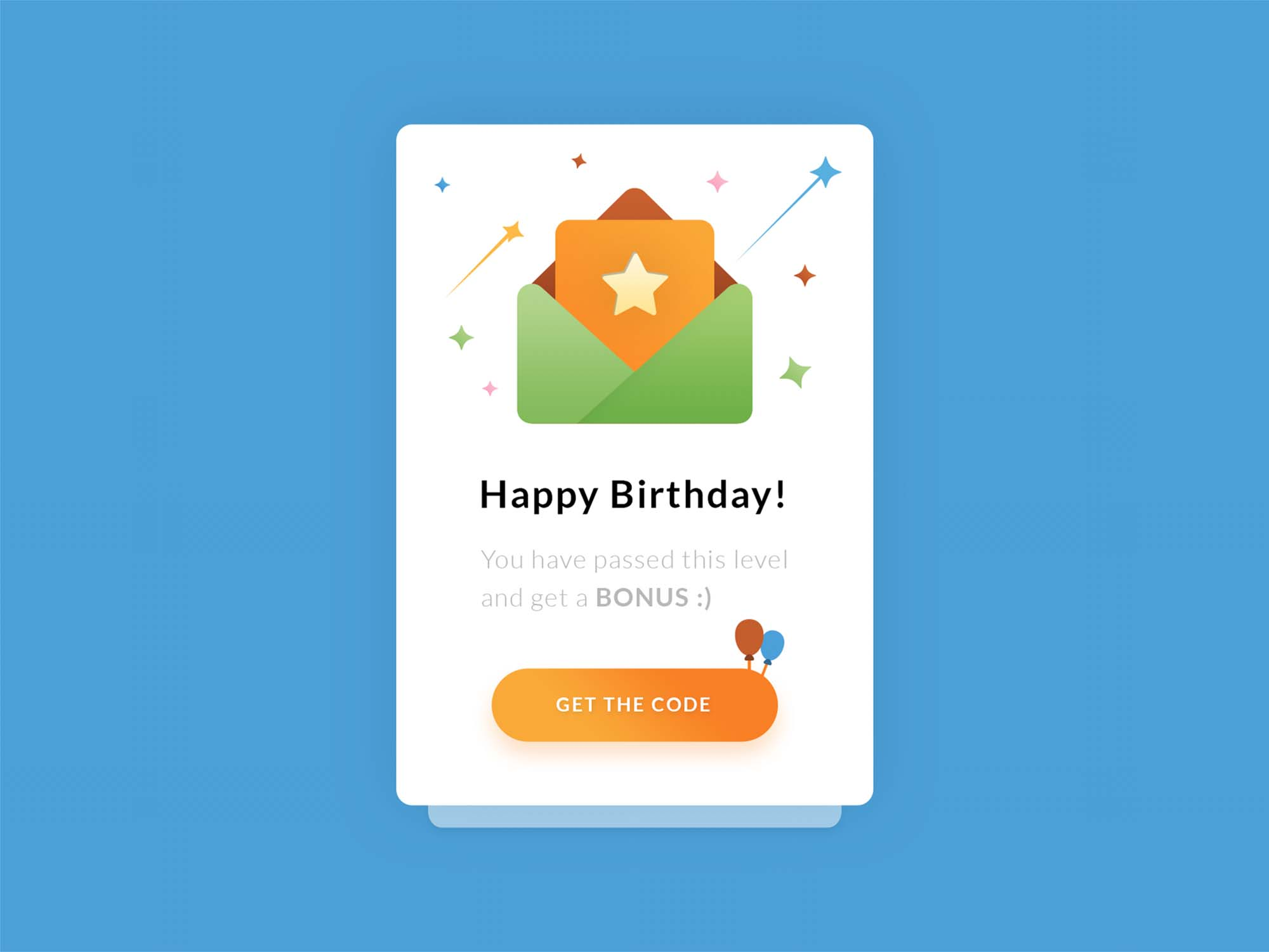 Happy Birthday UI-UX Template