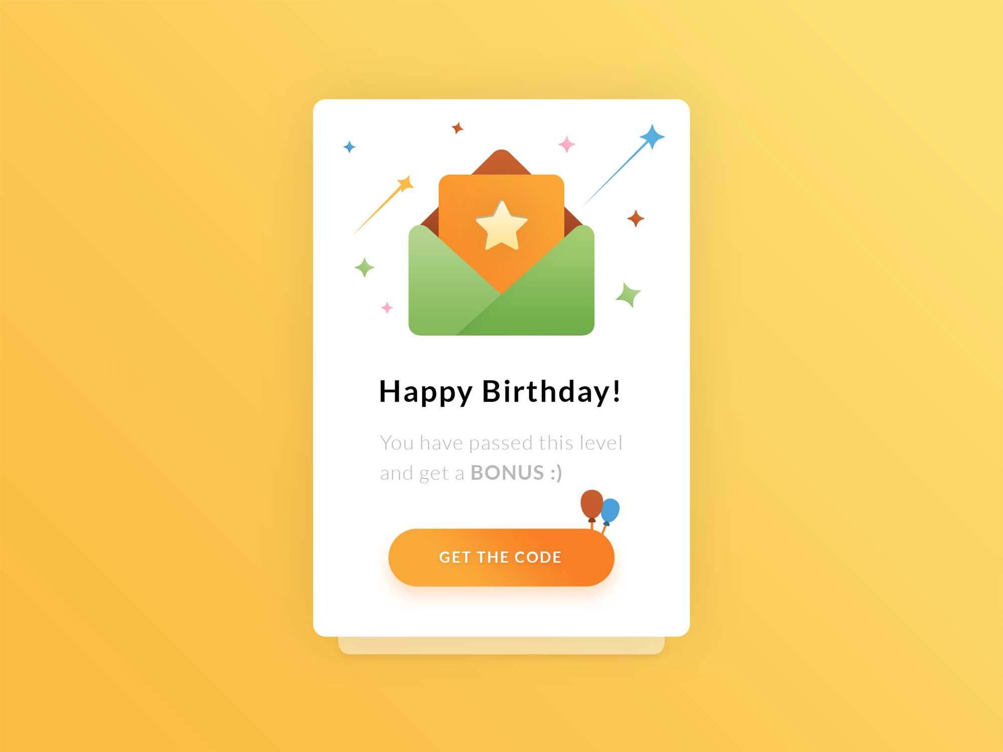 Happy Birthday UI-UX Template 2