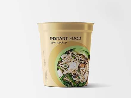 Instant Food Bowl Mockup
