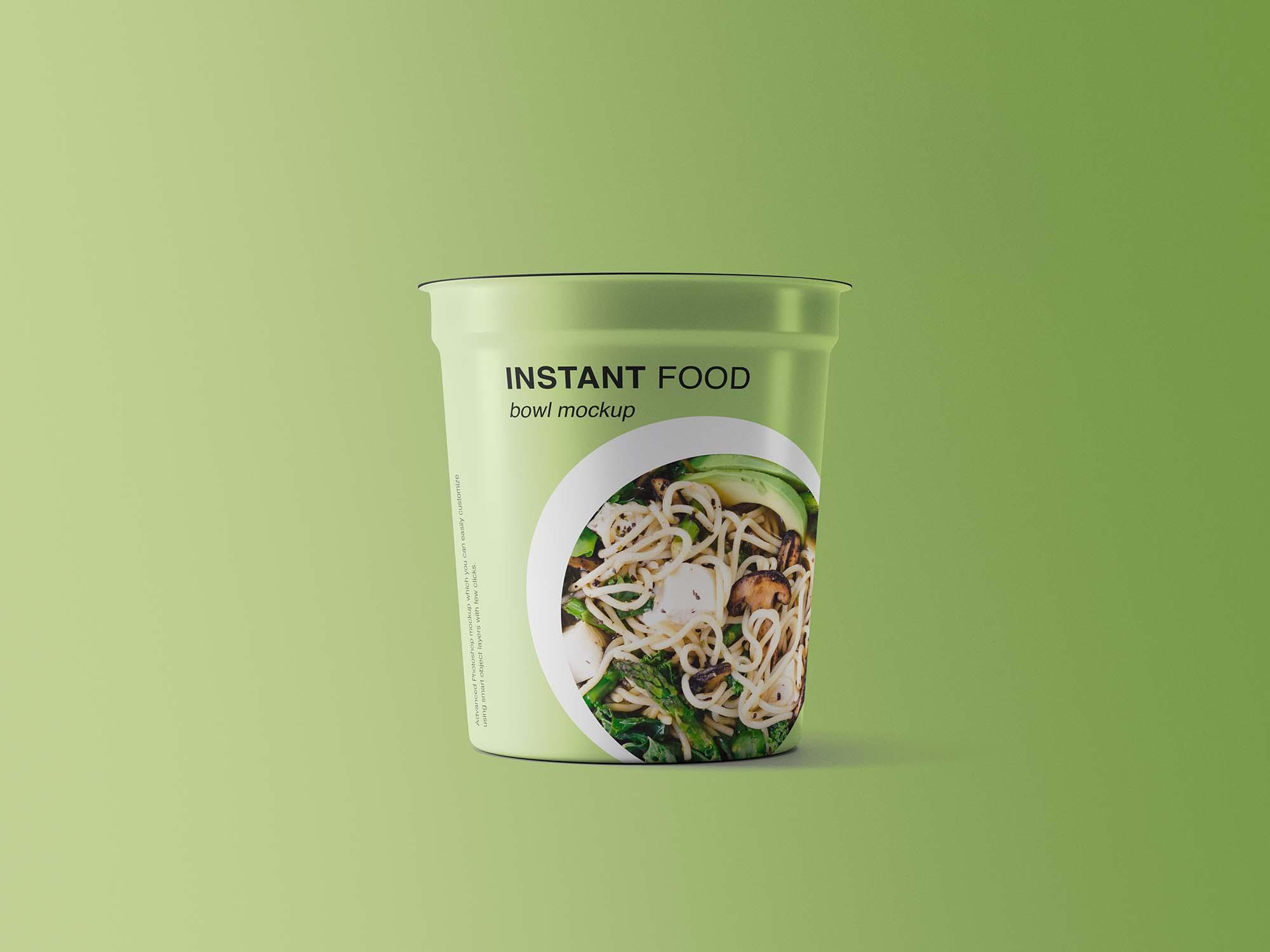 Instant Food Bowl Mockup 2