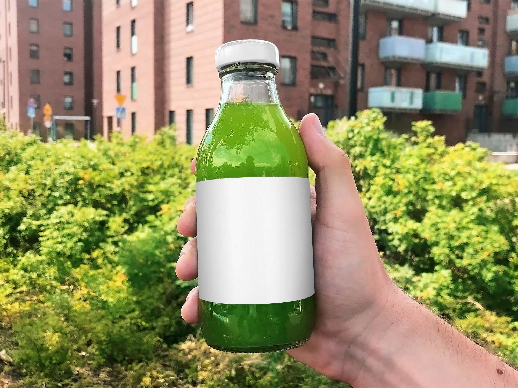 Juice Glass Bottle Mockup 2