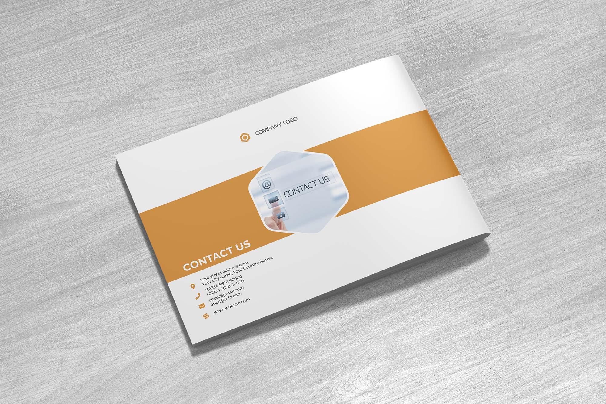 Landscape Company Profile Template & Mockup