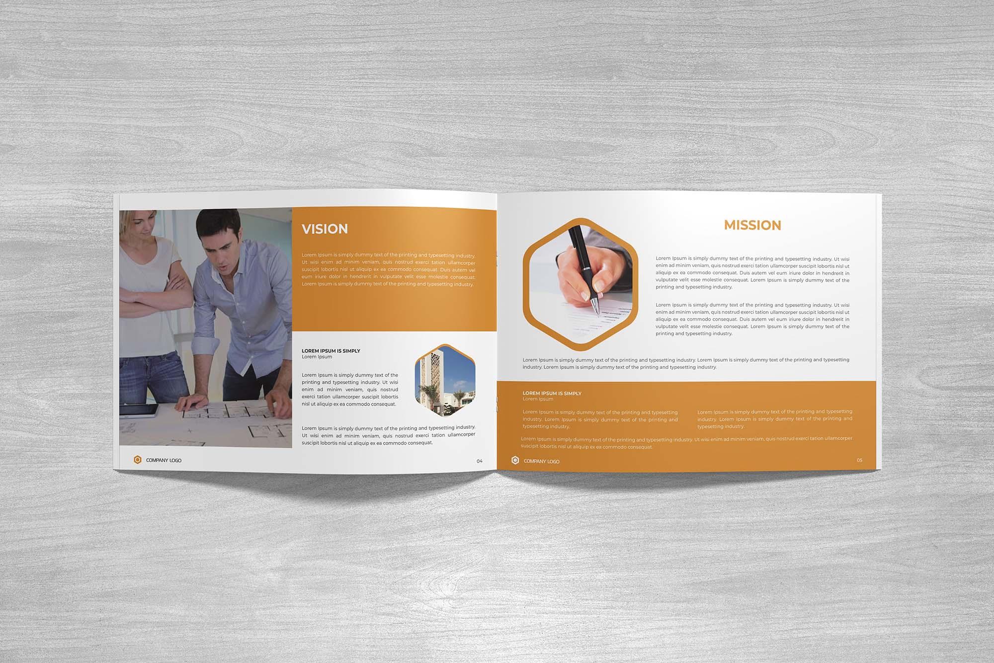 Landscape Company Profile Template & Mockup 3