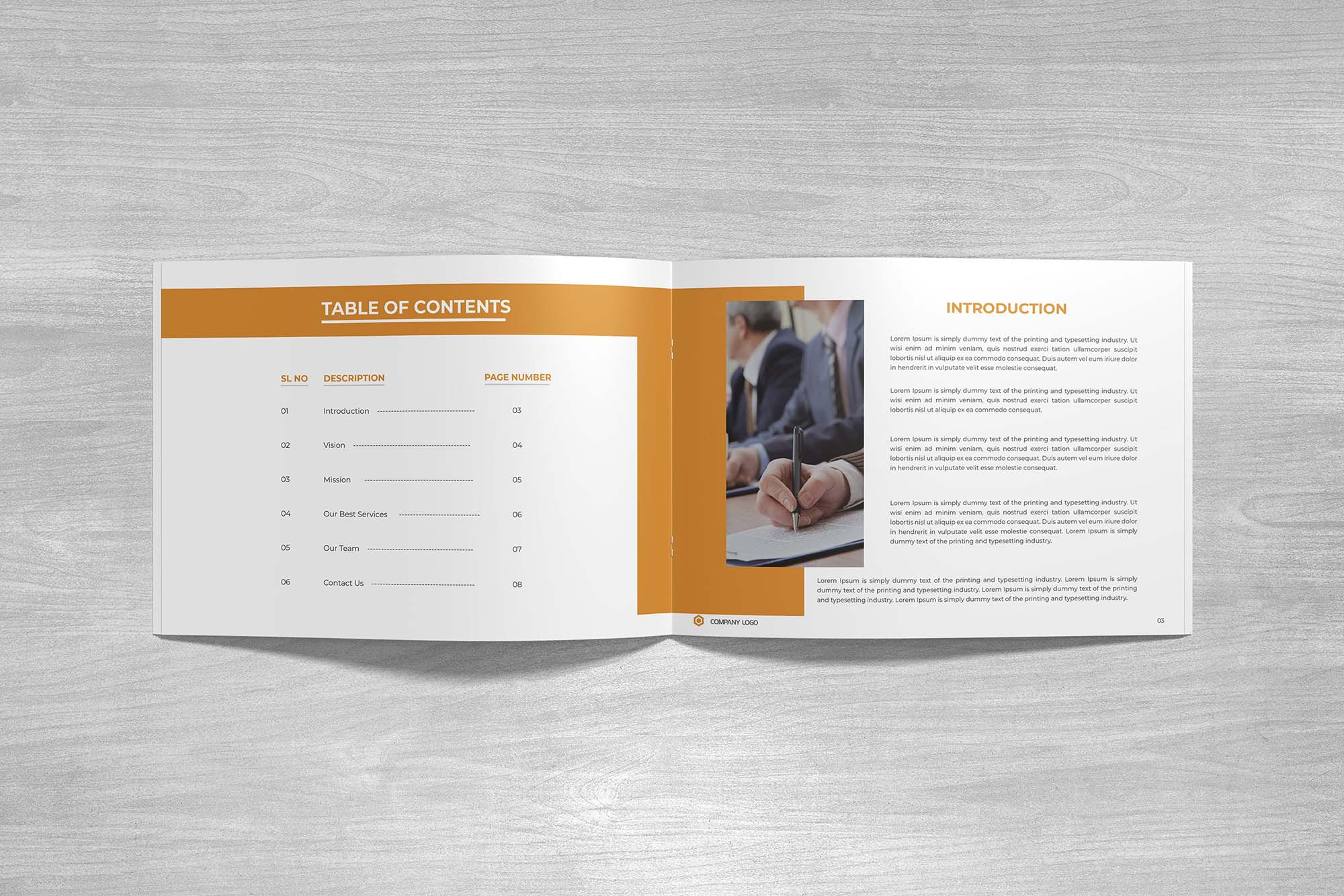 Landscape Company Profile Template & Mockup 4