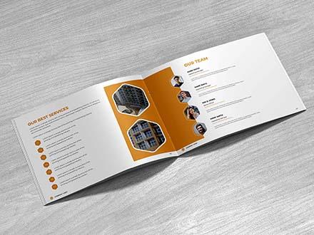 Free Landscape Company Profile Template & Mockup (PSD)
