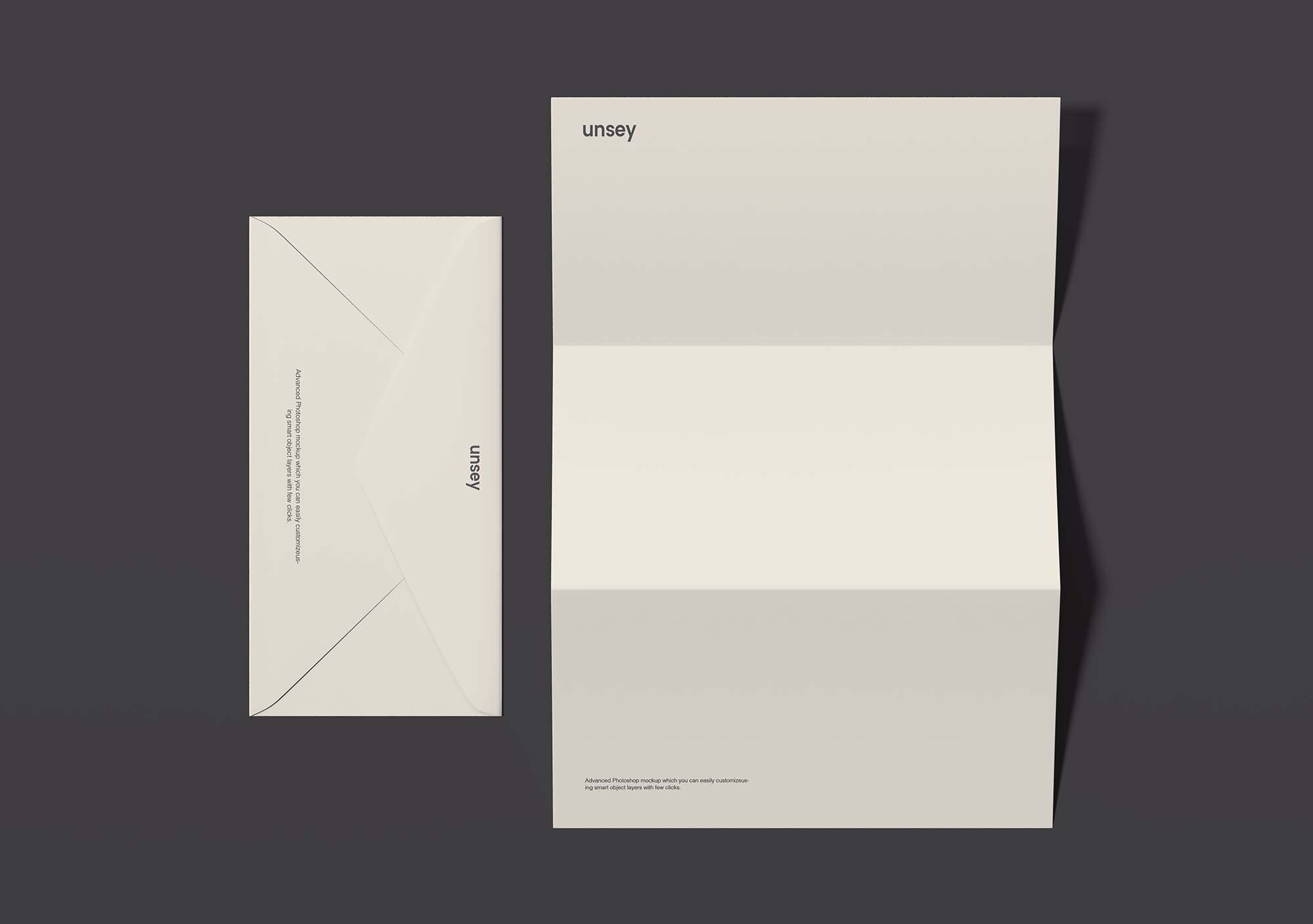 Letterhead and Envelope Branding Mockup 2