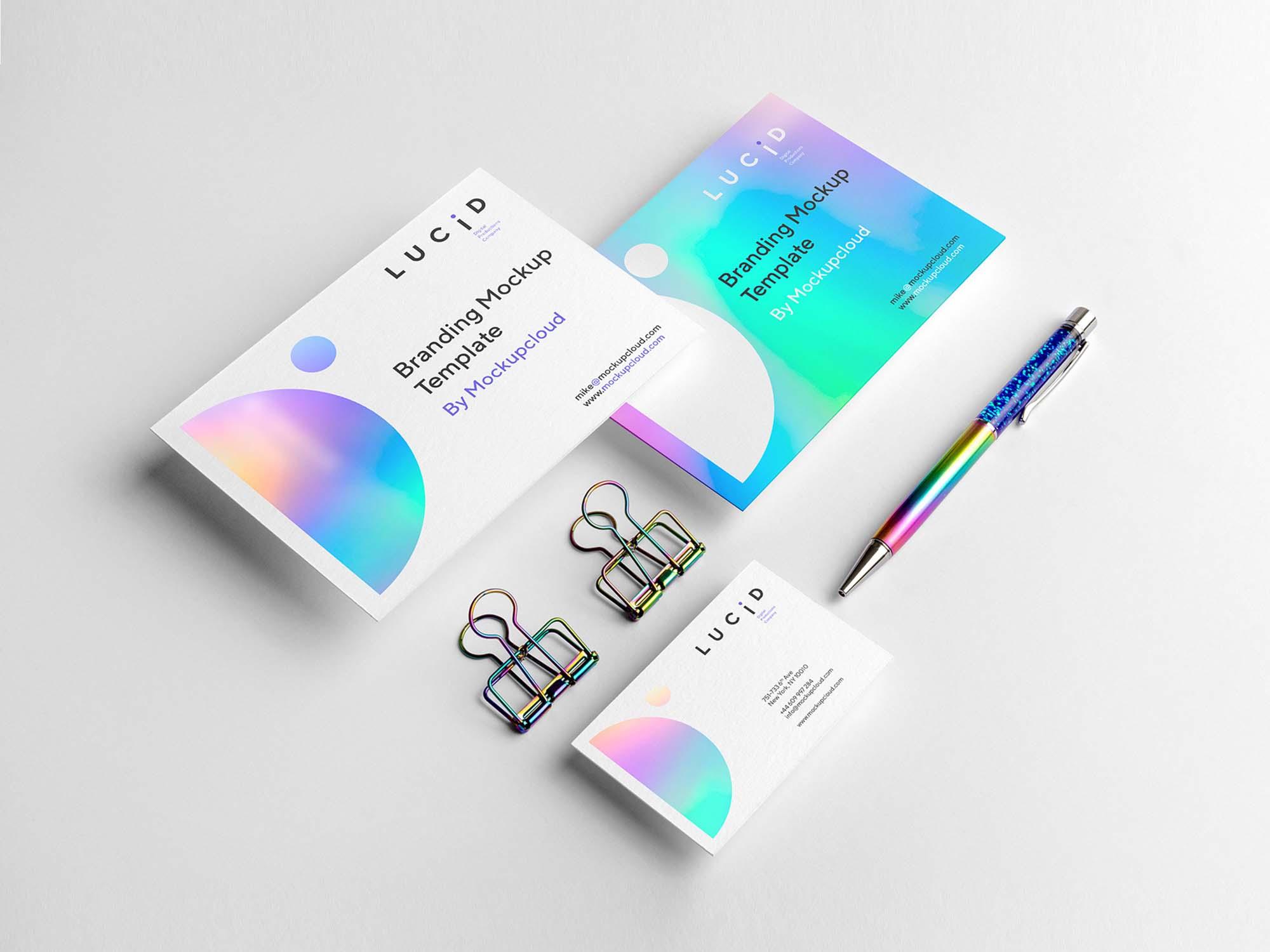 Lucid Modern Branding Mockup