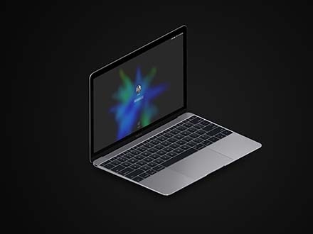 MacBook and iPad Isometric Mockup