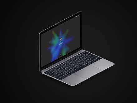 MacBook and iPad Isometric Mockup