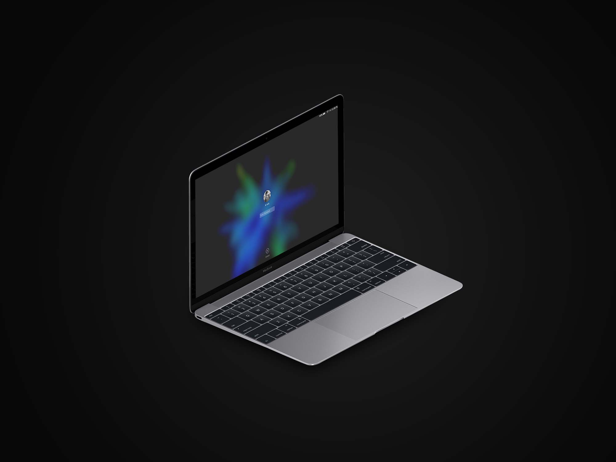MacBook Isometric Mockup