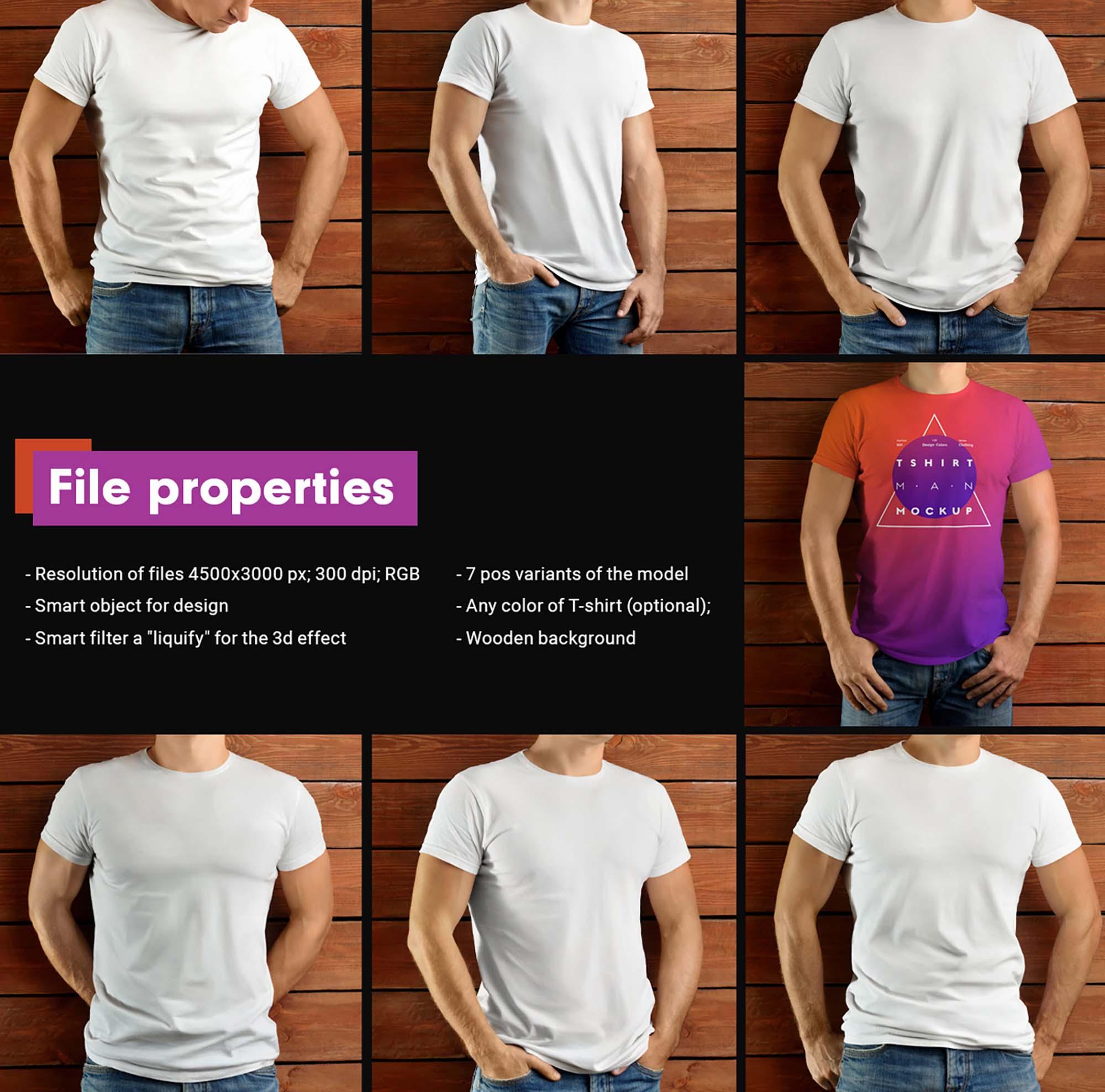 Man T-shirt Mockup 2