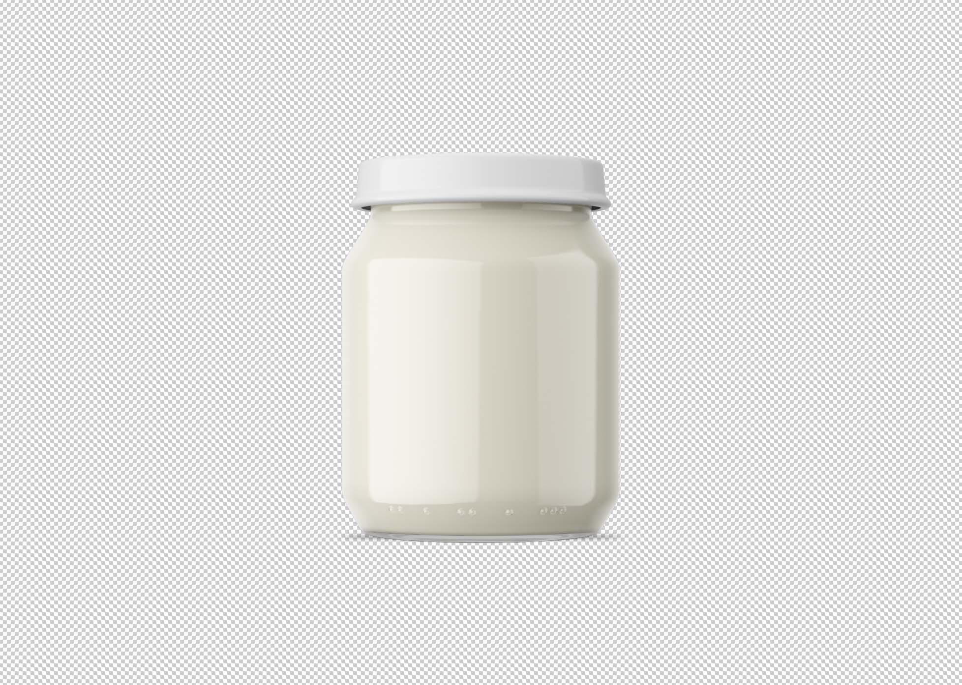 Mayonnaise Jar Mockup 2