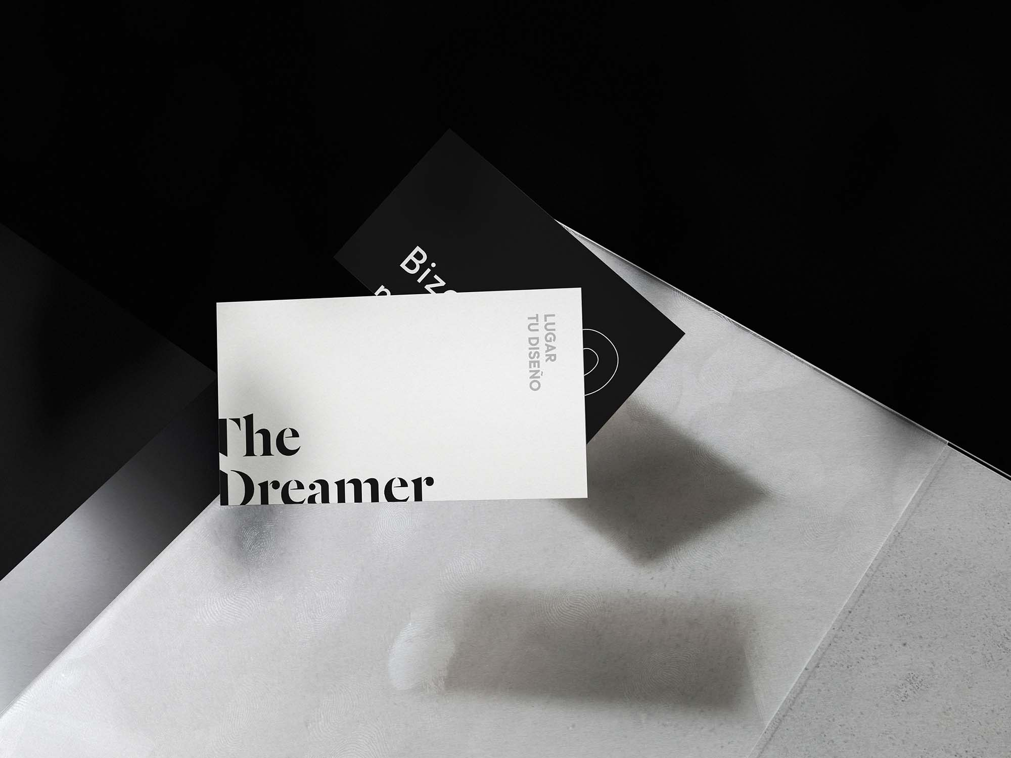 Business Card Floating Mockup