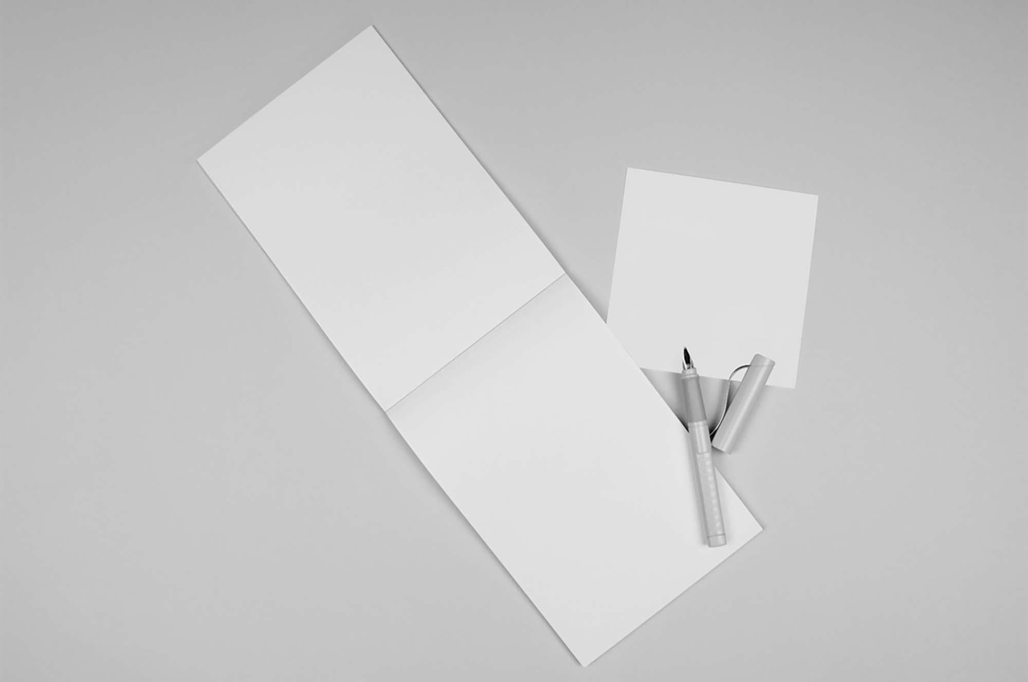 Opened Notepad Mockup 2